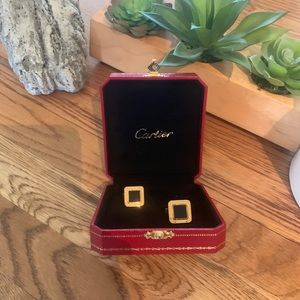 Authentic Cartier Gold Men's Cufflinks